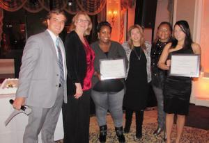 Pictured: Ray Williams and Denise Rueda from Briscoe Protective Systems, Dainya Bruno, Wafa Abboud, C.E.O., Marcelle Bailey, and Marisol Estrada from Human First