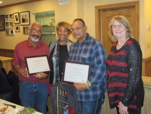 Pictured: Michael Bailey, Stephanie Munford, C.O.O. and Ramdeen Seecharen from Maranatha, Denise Rueda from Briscoe Protective Systems