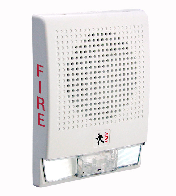 G4 Wall Speaker-Strobe with FIRE Marking, White