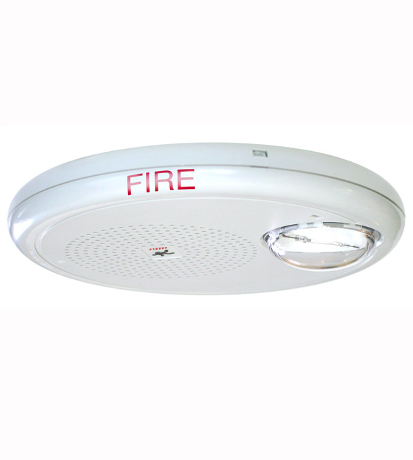GC Ceiling Speaker-Strobe with FIRE Marking, White